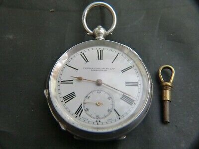 Solid Silver Pocket Watch Dated London 1910
