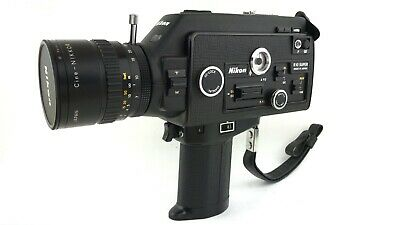 """AS-IS"" Nikon R10 SUPER 8mm Movie Camera w/ Cine-NIKKOR 7-70mm f/1.4 From japan"