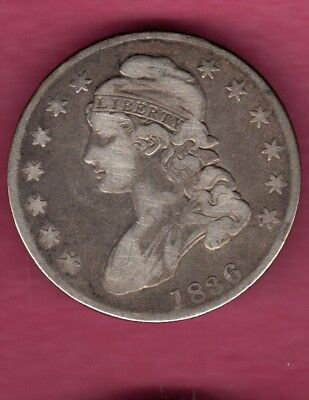 1836 Lettered Edge Capped Bust Half Dollar Coin..nice Looker Buy It Now #c446
