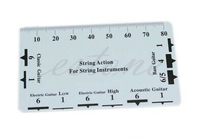 Guitar String Action Ruler Card Tool Gauge Luthier Plastic Measure Fritz Wallet