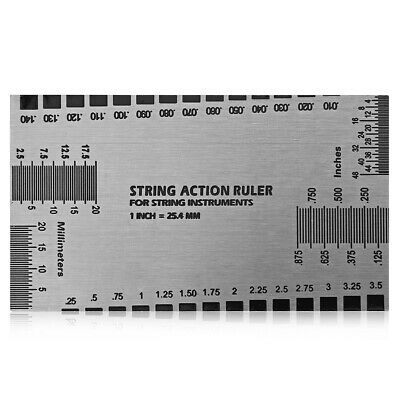 Guitar String Action Ruler Card Tool Gauge Luthier Steel Measure Fritz Wallet