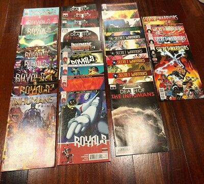 Death Of Inhumans, Royals, Secret Warriors, Prime Full Runs Marvel Comics Lot