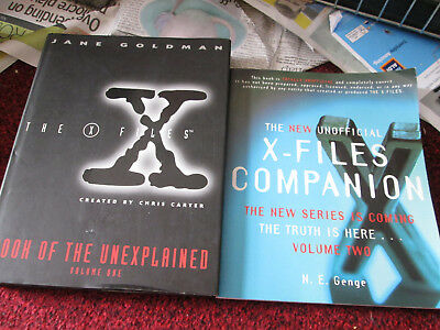 The X-files Book of the Unexplained: v.1 Jane Goldman and X-Files companion book
