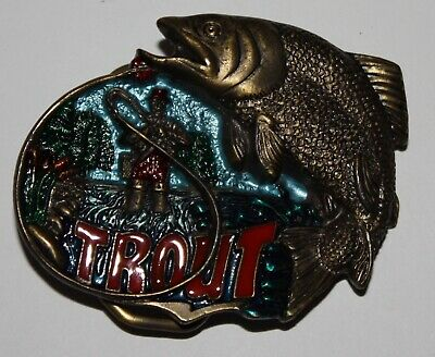 Trout Fly Fishing Belt Buckle The Great American Buckle Co. H533