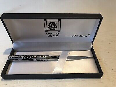 Charles Rennie Mackintosh Gift Boxed Letter Opener - Black Rose design