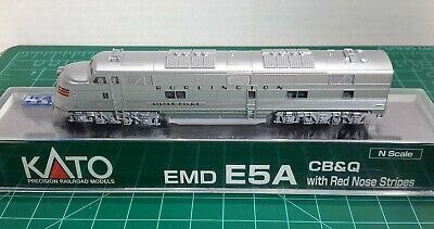 N Scale KATO E5A 'CB&Q w/Red Nose Stripes' With Factory DCC Item #176-5403-DCC