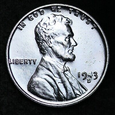UNCIRCULTED 1943-D Steel Lincoln Wheat Cent Penny FREE SHIPPING