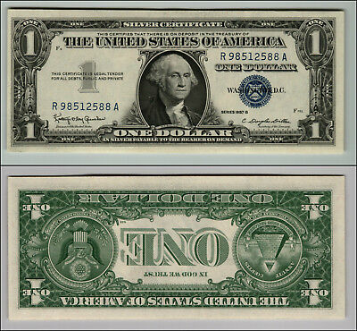 1957B  United States $1 Silver Certificate  Blue Seal Nice  Uncirculated Z464