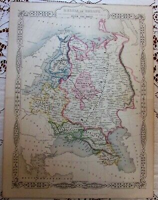 Antique Map Print*Russia in Europe*Peter the Great