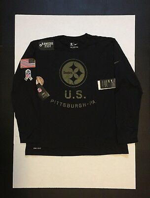 Nike Pittsburgh Steelers 2018 Salute to Service Legend T-Shirt Mens Size M 31076e4a6