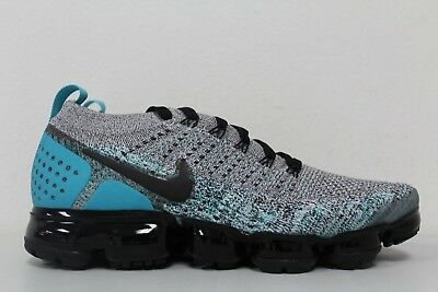Nike Air Vapormax Flyknit 2 White Black Dusty Cactus 942842-104 Mens Size 13