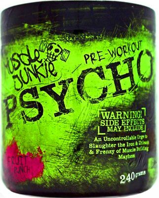 PSYCHO STRONG Pre-Workout Supplement Powder 240g Muscle & Strength Gain