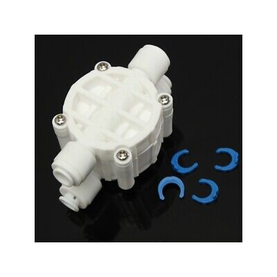 1/4 Inch 4 Way Auto Shut Off Valve For RO Reverse Osmosis Water Filter System