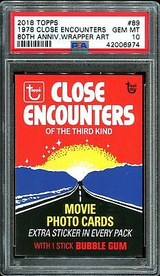 2018 Topps 80th Anniversary Wrapper Art #89 ~ 1978 Close Encounters /190 PSA 10