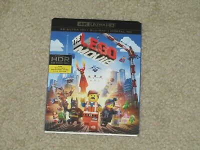 The Lego Movie 4K Ultra Hd Blu Ray 2 Disc Set + Slipcover