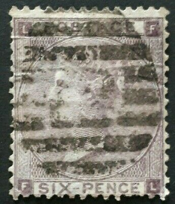 1865 GB 6d Lilac Queen Victoria Stamp -  Used - High c/v £85