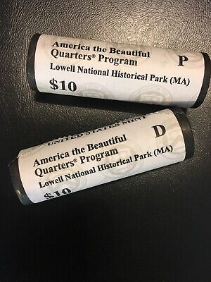 2019 Lowell National Historical Park Quarters (PD) 2 rolls per box