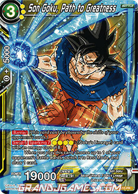 Power Booster Dragonball Super Card Game P-115 Son Goku, Path to Greatness