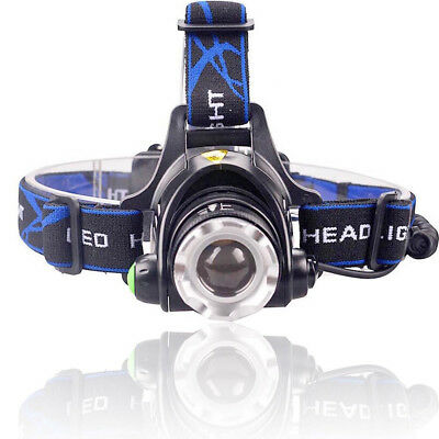 Tactical 30000LM Rechargeable T6 LED Headlamp 18650 Headlight Camping Lamp Torch