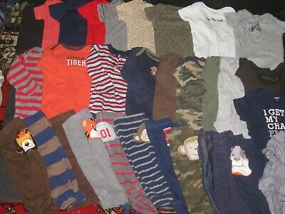 Baby Boys 6 Months Short& Long Sleeve Bodysuits Pants Hoodie Clothes Lot