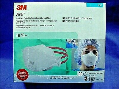 3m aura healthcare particulate respirator and surgical mask 1870 plus