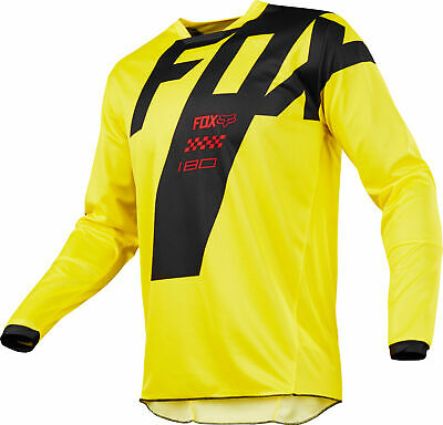 Fox Racing 180 Mastar Mens MX Offroad Jersey Yellow