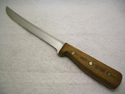 Vintage Chicago Cutlery USA Walnut Handle 66S Carving / Slicing Knife