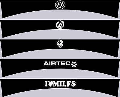 Car windscreen sunstrip VW Airtec i<3milfs choice of colours Matte or Gloss