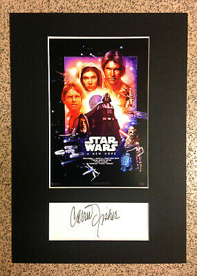 Star Wars -VERY RARE Special Edition Mini Movie Poster & Carrie Fisher Autograph