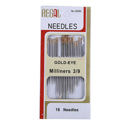 16Pcs New Hand Sewing Needles Stainless Steel for Home DIY Needle Crafts Useful