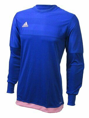 82245e058 Adidas Entry 15 Goalie Top Shirt Padded Sleeves Blue   Pink Men s Size L  Large