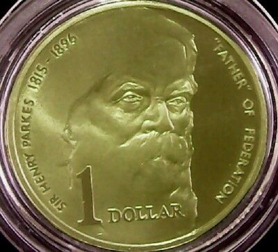 Australia  1996  $1 Proof Coin  Sir Henry Parkes - Father of Federation.