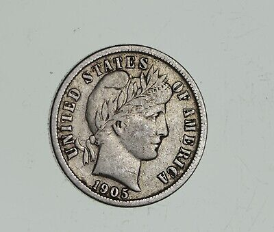Higher Grade - 1911 Barber Liberty US Silver Dime - Great Detail in LIBERTY *767