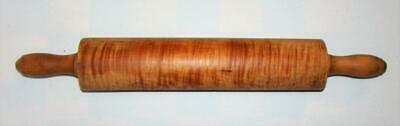 Antique Tiger Curly Maple Wooden Primitive Rolling Pin