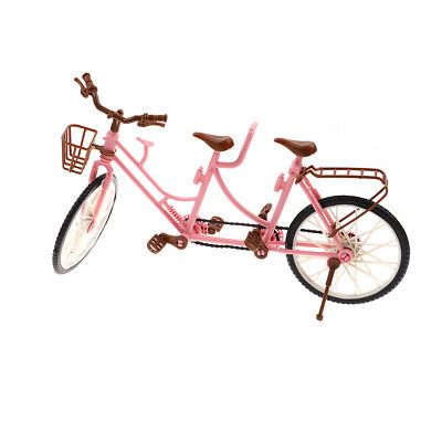 Fashion Trendy Double 1/6 Doll bicycle Detachable Bike Basket Toy For Doll  Zy