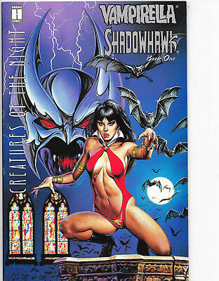 Vampirella Shadowhawk #1 Creatures Of The Night Harris Comics