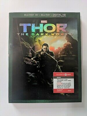 Thor: The Dark World Target Exclusive (Blu-ray 3D/Blu-ray) Slipcover Great Cond.