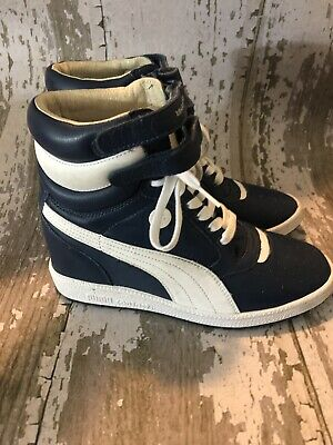 247d140ccff098 PUMA by Mihara Yasuhiro MY66 Women s Hidden Wedge Sneakers Navy Blue Size  8.5