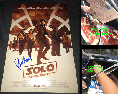 Ron Howard signed Solo Star Wars poster 12x18 photo EXACT proof Han Solo BAS