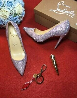 c2c805eec84 Brand New Christian Louboutin So Kate Pink Glitter Dragonfly Heel Pump 38