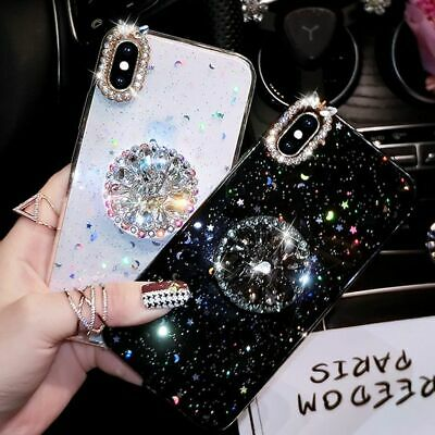 iPhone Case 7 8 X Xs Max Xr 6 7 8 Plus Luxury Glitter Diamond Cover Stand Holder