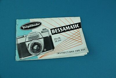 Voigtlander Bessamatic Users Manual Instructions For Use