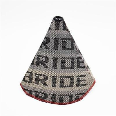 Universal Bride Style Grey Gradiation Gear Shift Boot Gaiter Gator Material JDM