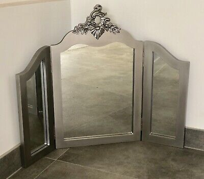 Argent Silver Dressing Table Tri Fold Mirror