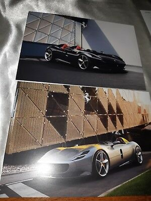 "FERRARI ""MONZA SP2"" and ""MONZA SP1""  official Brochure Postcard"