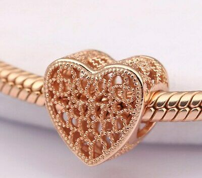CHARM Filled with Romance Heart Rose Gold Charm Love Charm Heart