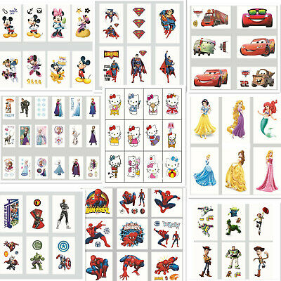 Childrens Boys Girls Temporary Tattoos Kids Party Favors Bag Fillers Stickers