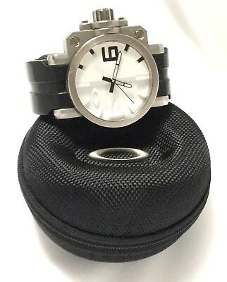 7fe9f17789a Oakley Mens Swiss Made STAINLESS GEARBOX Watch! White Dial w  Black - Rare  Find