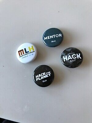 MLH Major League Hacking Pins and Buttons — 2000s