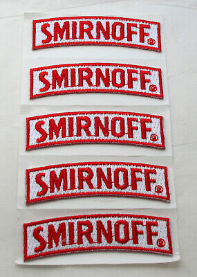 5 Small Smirnoff Vodka Distillery Small Advertising Cloth Patch New NOS